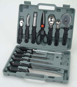 FT-1205A 13 pieces Kitchen & Knife Set in Carrying Case.