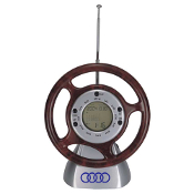 L-003 Steering Wheel World Time Clock with FM Scan Radio.