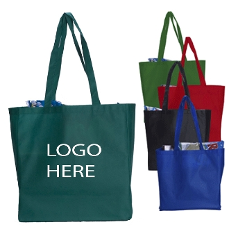 "NW-15166G Casual Non-Woven Tote Bag with 28"" handle."