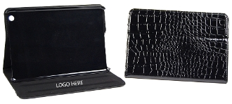 Q-580 Ipad Mini PU Leather Case Cover, Alligator Surface.