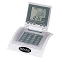 AH-243P World Time Clock/Calculator with Plastic base.