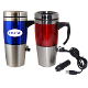 FY-09 16 oz. Dual Auto/USB Heated Travel Mug.