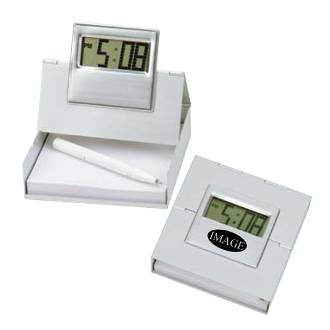 BK-1207 4 in 1 Metal Alarm LCD Clock.