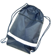 BP-4511-2 Drawstring Backpack with Zipper Pocket.