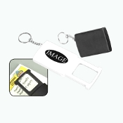 C-343L 4X Magnifier Key Chain with Light.
