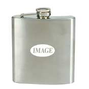 D-06A 6 oz. Stainless Steel Liquor Hip Flask.