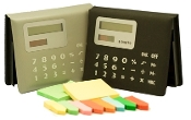 GY-598 Solar Calculator with Sticky note pad and page markers.