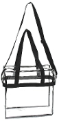 NFL-126 NFL Approved Clear Stadium Tote Bag.