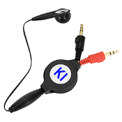 WS-09 Retractable PC Earphone with Microphone.