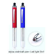 YD-11007 3 in 1 Stylus ballpoint pen, stylus and LED flashlight.